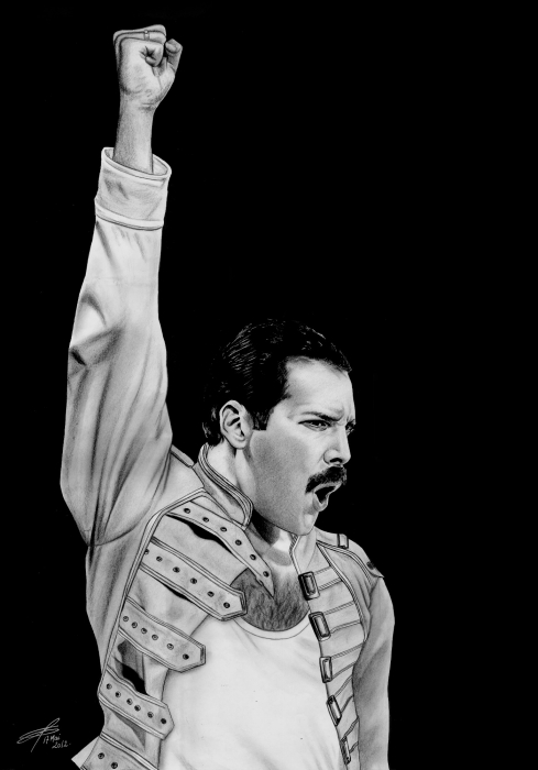 Freddie Mercury by greg-drawings